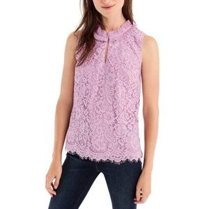 New J. Crew Women's Lace Ruffle Neck Top Size S